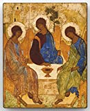 The Holy Trinity Andrei Rublev Russian Religious Icon Canvas Decor on Wood
