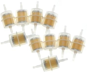 10 x Auto Inline Gasolina Filtro, filtro de aceite, para 6/8 mm