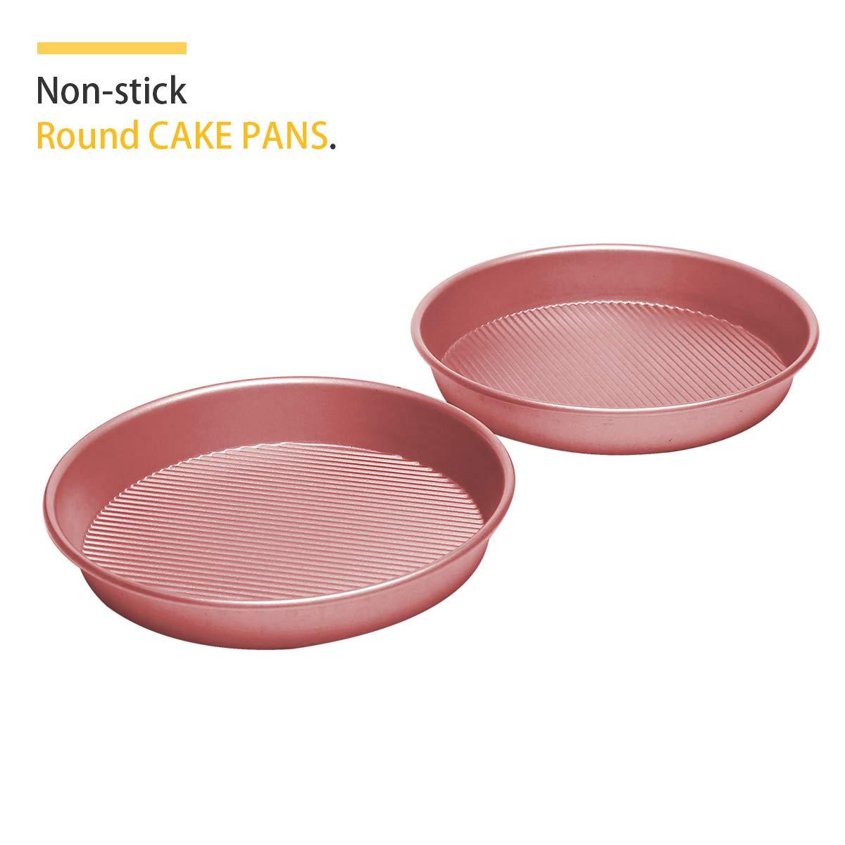Bakeware Set, TOPTIER 6 Piece Nonstick Baking Pan Sets with Cookie Baking Sheets, Muffin Pan, Loaf Pan, Round Cake Pan, Roasting Pan for Baking | Prime Housewarming & Wedding Gift, Rose Gold by toptier (Image #2)