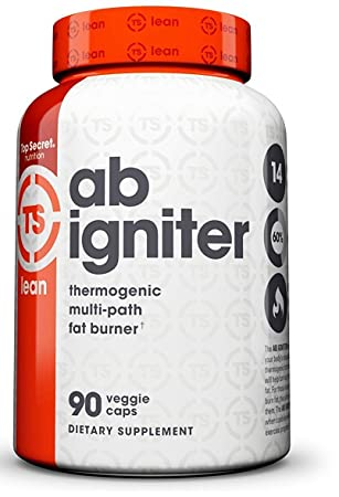 Top Secret Nutrition Ab Igniter Thermogenic Fat Burner Supplement for Weight Loss 90 veggie caps