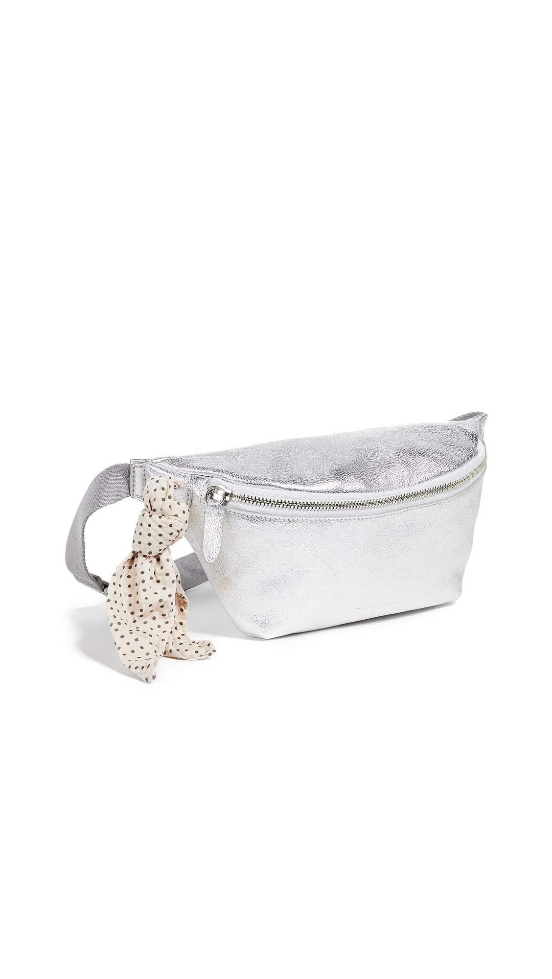 Loeffler Randall Women's Belt Bag, Silver, One Size