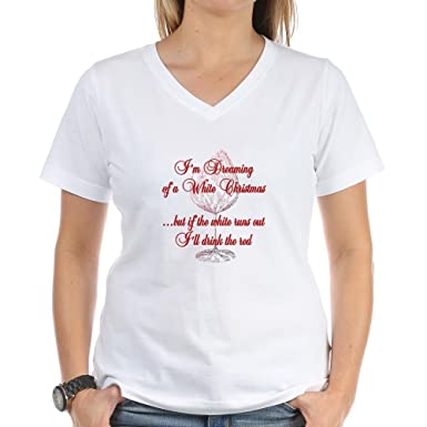 d56d5474d2d Image Unavailable. Image not available for. Color  CafePress - White  Christmas - Womens Cotton V-Neck T-Shirt