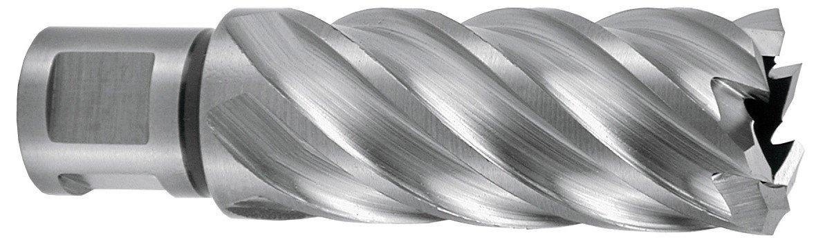Schnitttiefe 55/mm 3//4 CBN geschliffen /SPIRALBOHRER HSSE 5/mit Weldonschaft 26/x 19/mm Ruko 108526e hohler/