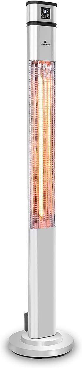 Radiatore di Calore a Infrarossi Nero Timer Radiatore 2000W Oscillazione 60/° Alloggiamento in Alluminio Anodizzato blumfeldt Heat Guru Plus Telecomando Resistenza in Carbonio 3 Livelli