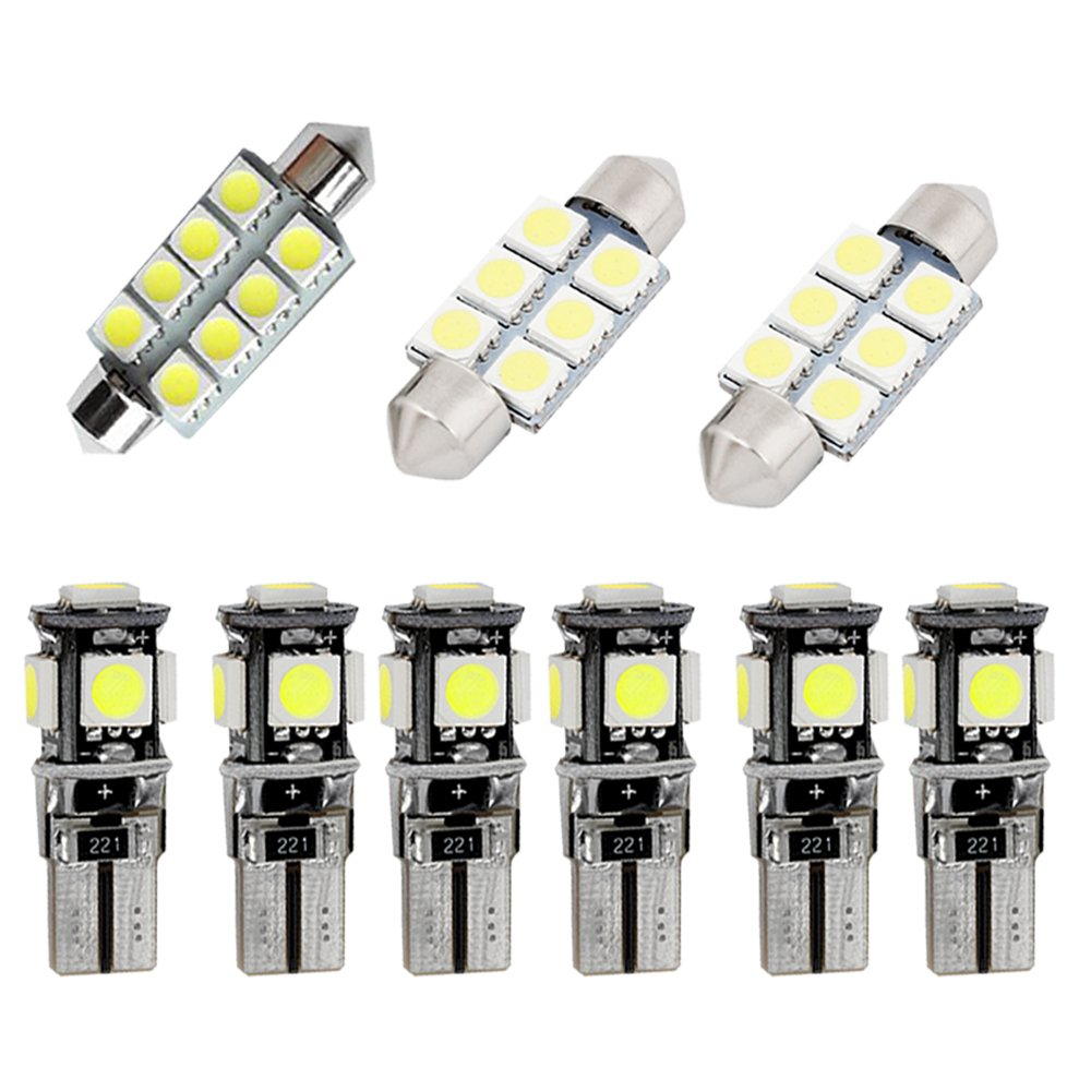 For Scirocco R Super Bright LED Interior Lights Source Car Lamp Replacement Bulbs White Pack of 9