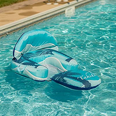 Blue Wave Drift + Escape Inflatable Pool Lounger, Blue: Toys & Games