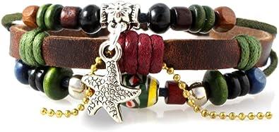 beaded bracelet silver and leather bracelet leather wrap bracelet hippie leather bracelet wide leather bracelet for women multistrand