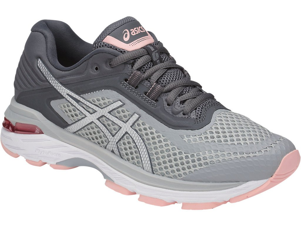 ASICS Women's GT-2000 6 Running Shoe, Mid Grey/Silver/Carbon, 5 M US by ASICS (Image #1)