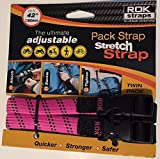 ROK Straps 12''-42'' Adjustable Loop-Thru -2Pk PINK and BLACK