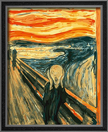 DIY PBN Paint By Numbers Famous Painting The Scream Edvard Munch 16 20 Inches Frameless NEW FREE SHIPPING From USA