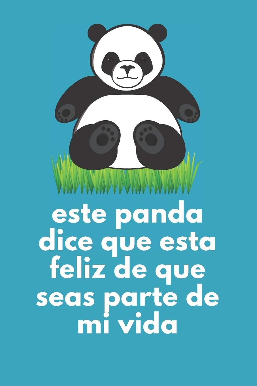 Cuaderno De Notas Panda Feliz: Regalos Para Novios, Novia ...