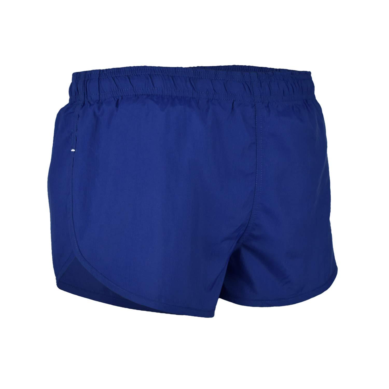 VBRANDED Men's Side Split Running Shorts with Mesh Linen Medium Navy Blue by VBRANDED