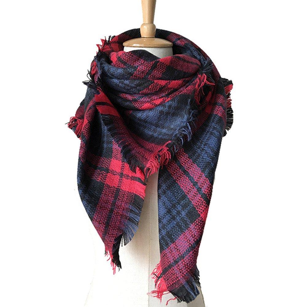 RACHAPE Girls Stylish Grid Warm Blanket Scarf Winter Gorgeous Wrap Shawl A834