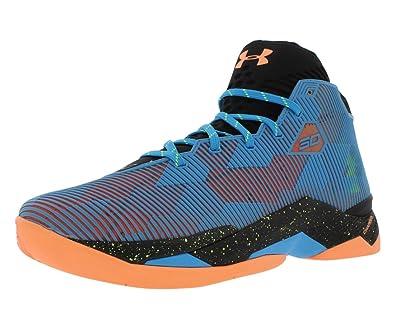 7c9f8bc45ba4 Under Armour Men s Curry 2.5 Basketball Shoes Black Blue Orange 13 M ...