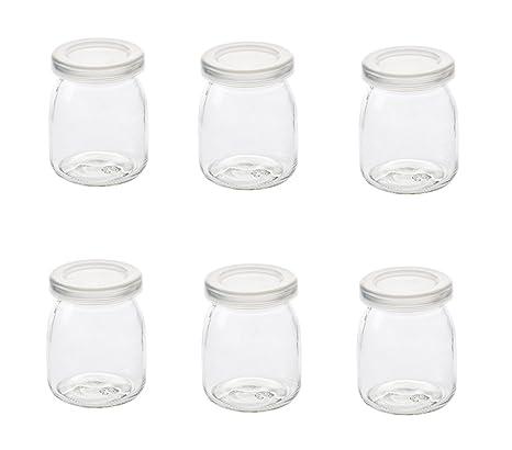 Astra Gourmet botes de yogur/pudding – Tarro de cristal con tapa (200 ml
