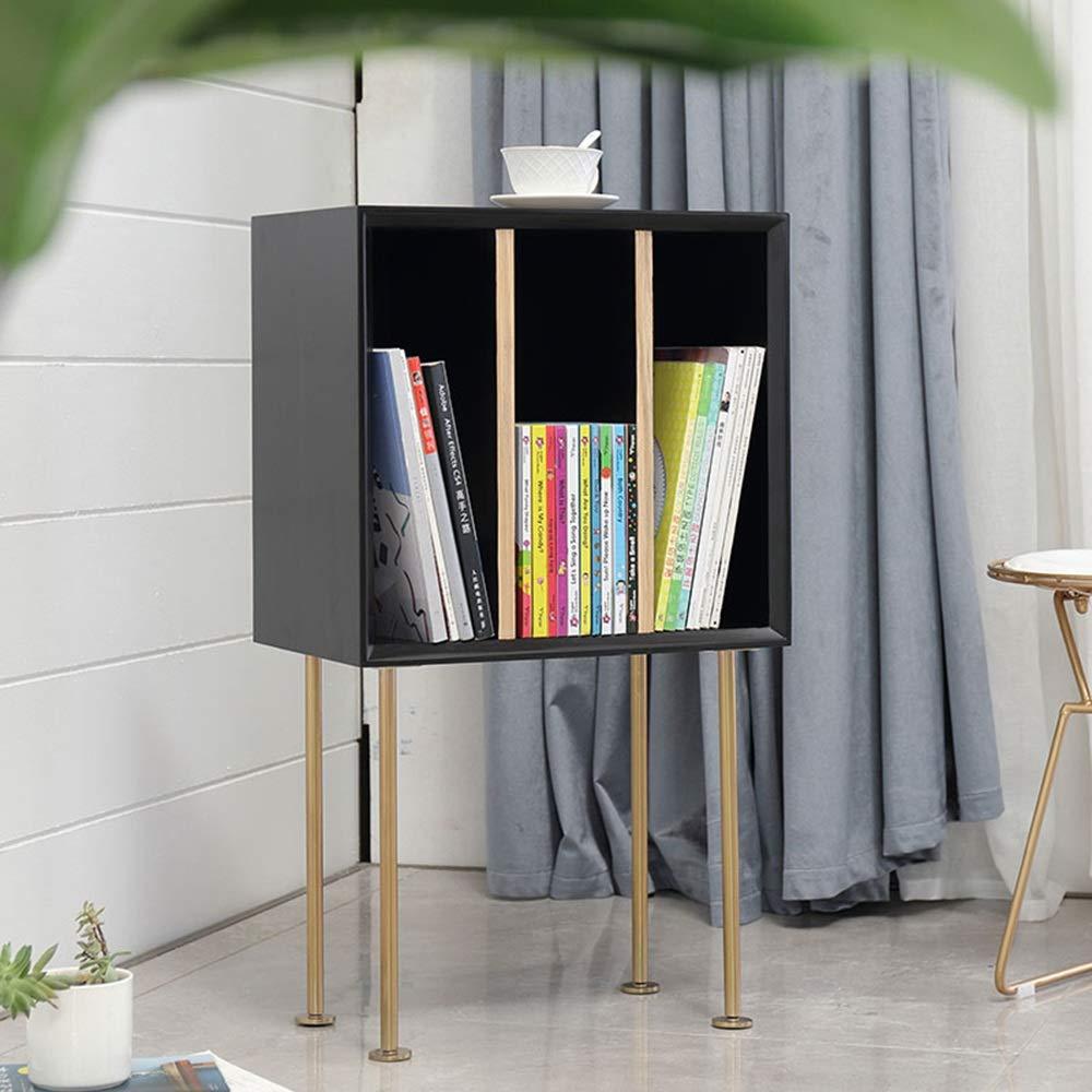 LQQGXLBedside Table Bedside Table Sofa Side Cabinet Locker Bedroom Bedside Table Small Side Table (Color : Black) by LQQGXL