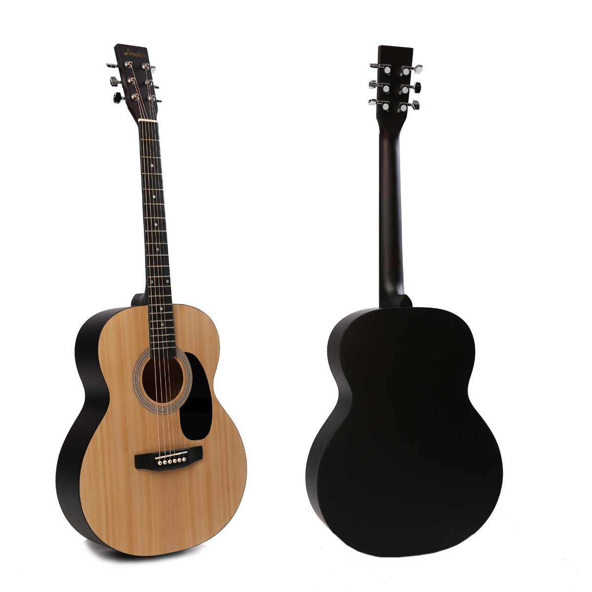 Acoustic Guitar Music Full Size Guitar Starter Kit Dreadnought Beginner Package - Matte Natural by IMusic (Image #3)