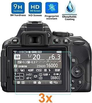 REY 3X Protector de Pantalla para Nikon D5300 - D5500: Amazon.es ...