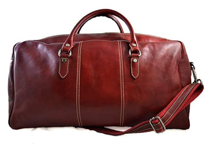 Image Unavailable. Image not available for. Color  Duffle bag genuine  leather shoulder bag red ... 07c88c2996152