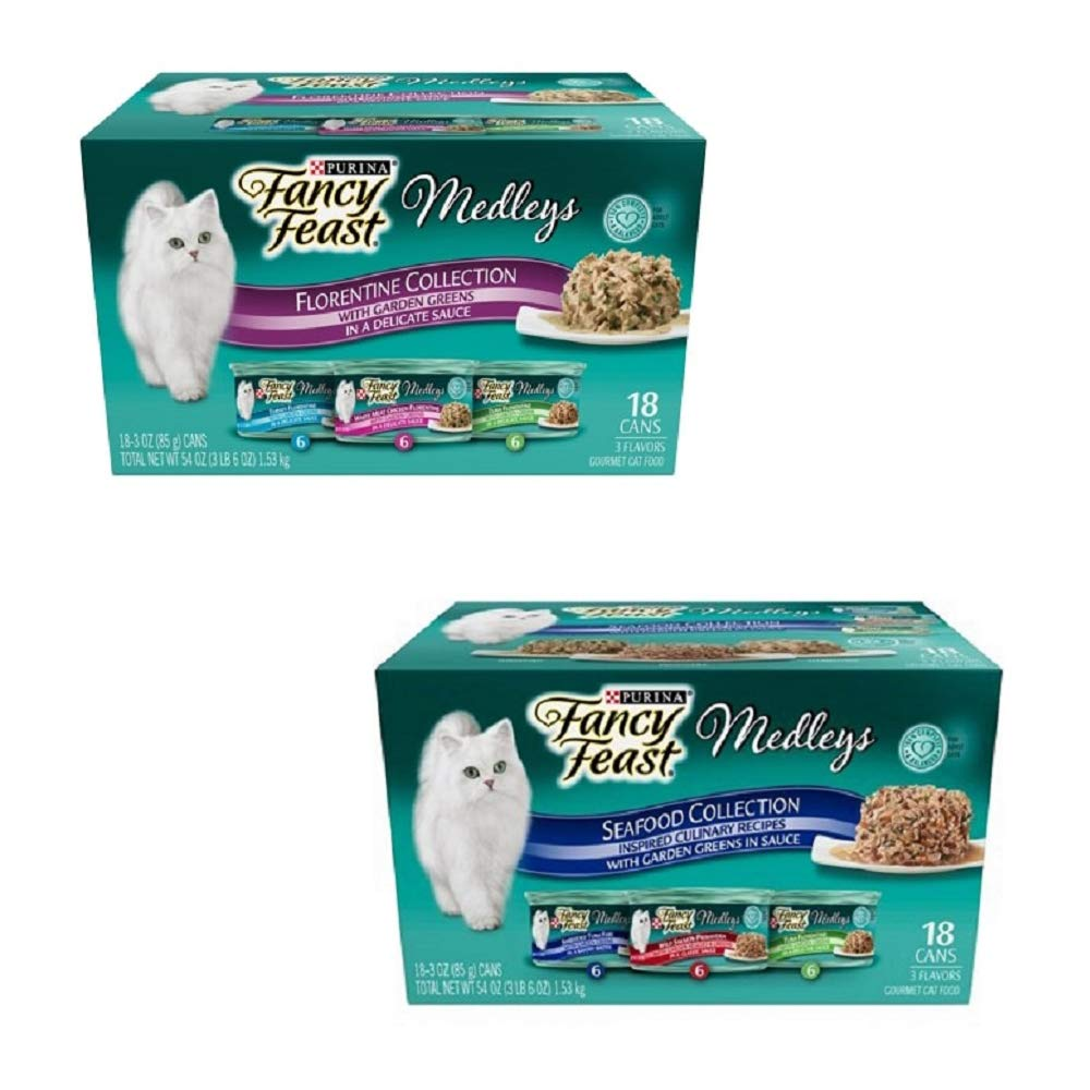 Purina Fancy Feast Medleys in Sauce Adult Wet Cat Food 24 3 oz. Cans