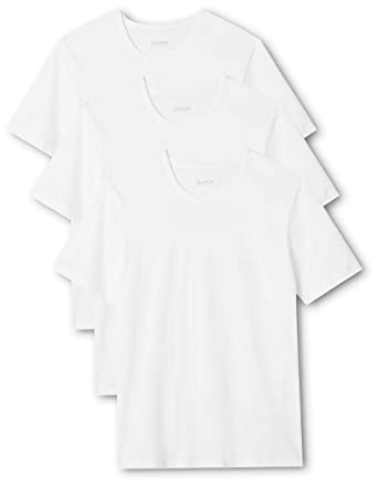 92729b7f60c Image Unavailable. Image not available for. Color: Hugo Boss 3-Pack Regular-Fit  Crew-Neck Men's T-Shirts,