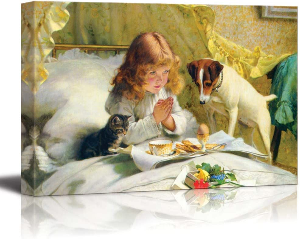 Suspense by Charles Burton Barber - Canvas Print Wall Art Famous Painting Reproduction -12