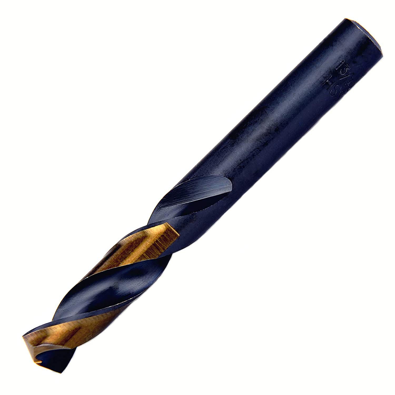 MaxTool 13//32 HSS M2 Screw Machine Stub Drill Bit Black /& Bronze 135 Deg Split Point; SMF02H10R26