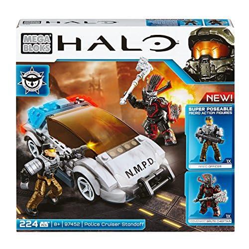 Mega Bloks 97452 - Jeu De Construction - Halo - Confrontation Avec Le Police Cruiser