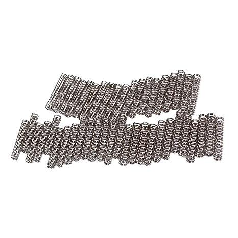 25 mm plata Healifty 45pcs muelles de repuesto humbucker puente de pastilla de guitarra para tornillo de pastilla de guitarra el/éctrica