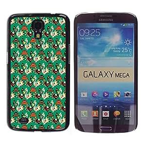 Be Good Phone Accessory // Dura Cáscara cubierta Protectora Caso Carcasa Funda de Protección para Samsung Galaxy Mega 6.3 I9200 SGH-i527 // Wallpaper Bird Russian Style Pattern Art