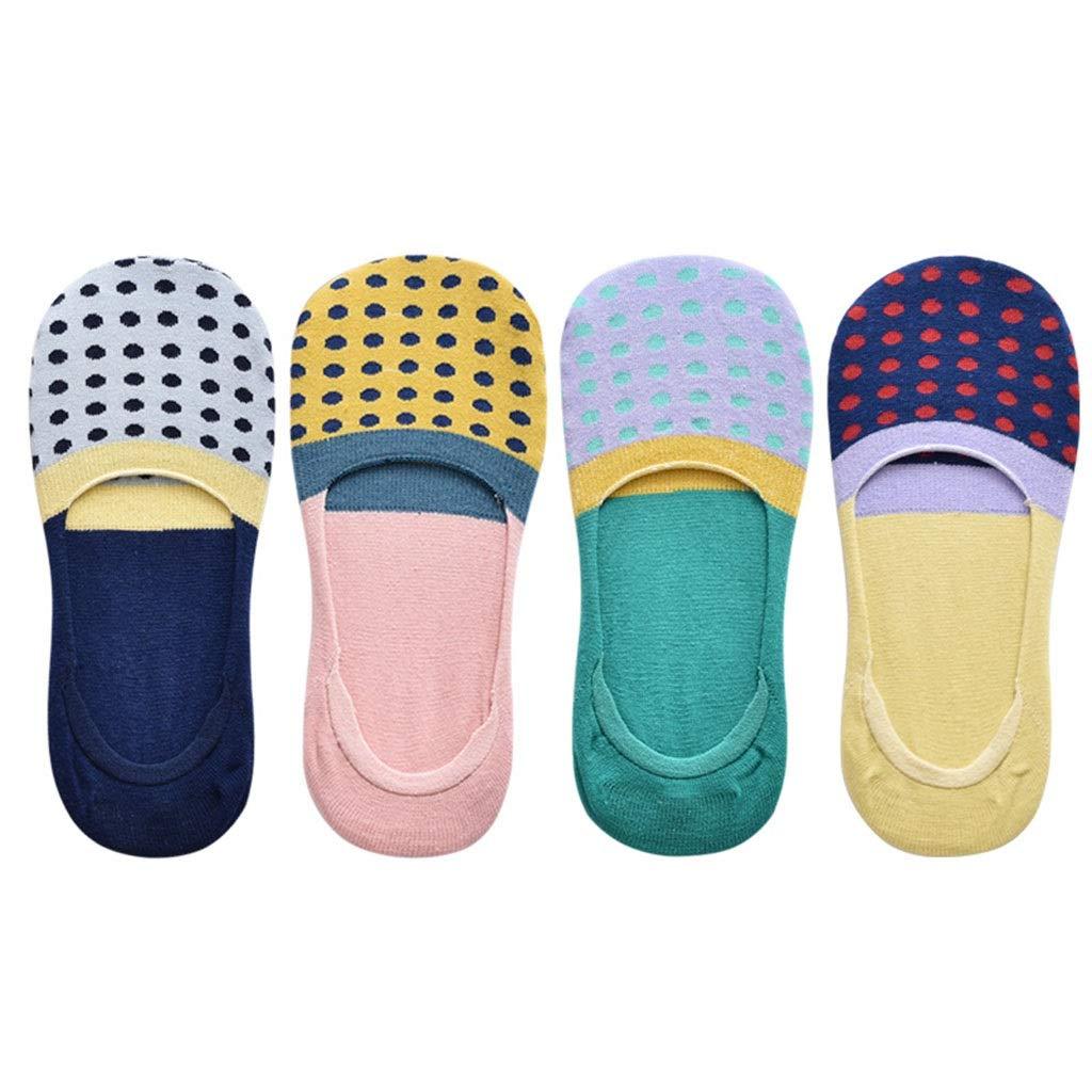 Socks Women's Boat Socks Invisible Socks Silicone NonSlip Spring and Summer Thin Socks 4 Pairs