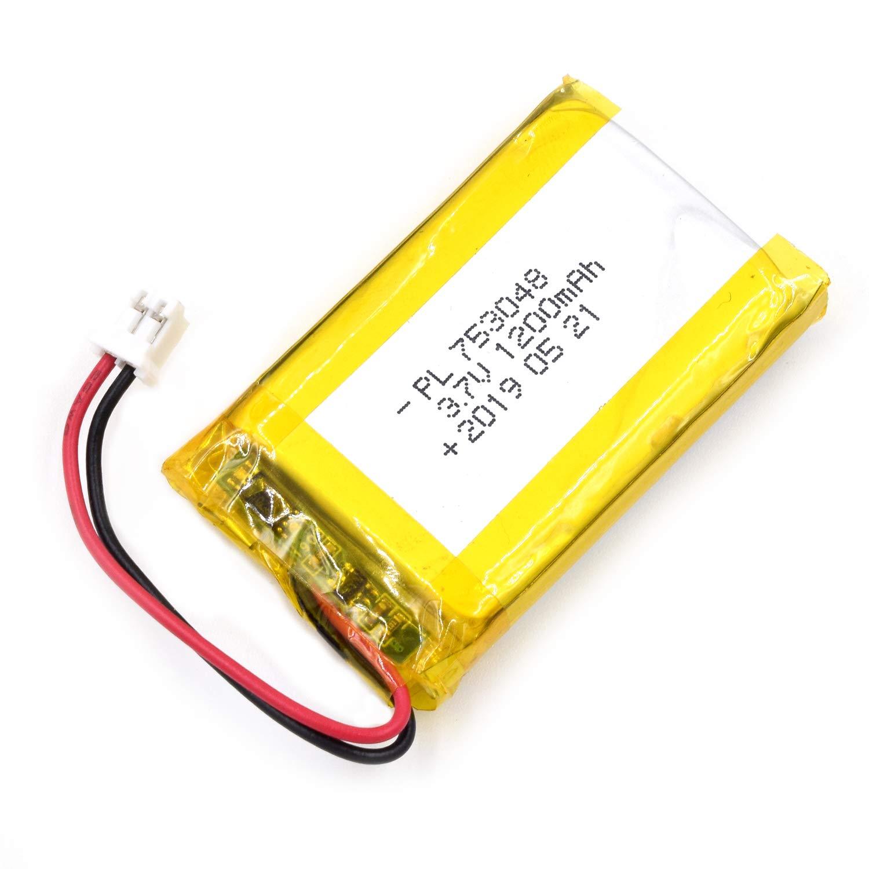 Bateria Lipo 3.7v 1200mah 753048 Recargable Jst Conector