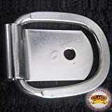 HILASON 1'' X 6MM CLIP STAINLESS STEEL CLIP FLAT DEE HORSE WESTERN TACK