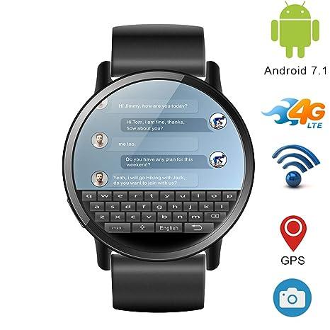 J.W. Reloj Inteligente 4G para Hombres, Android 7.1, Bluetooth ...