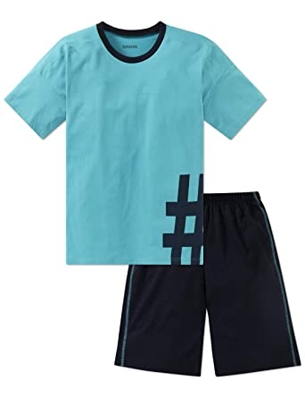 Schiesser Jungen Anzug Kurz Zweiteiliger Schlafanzug