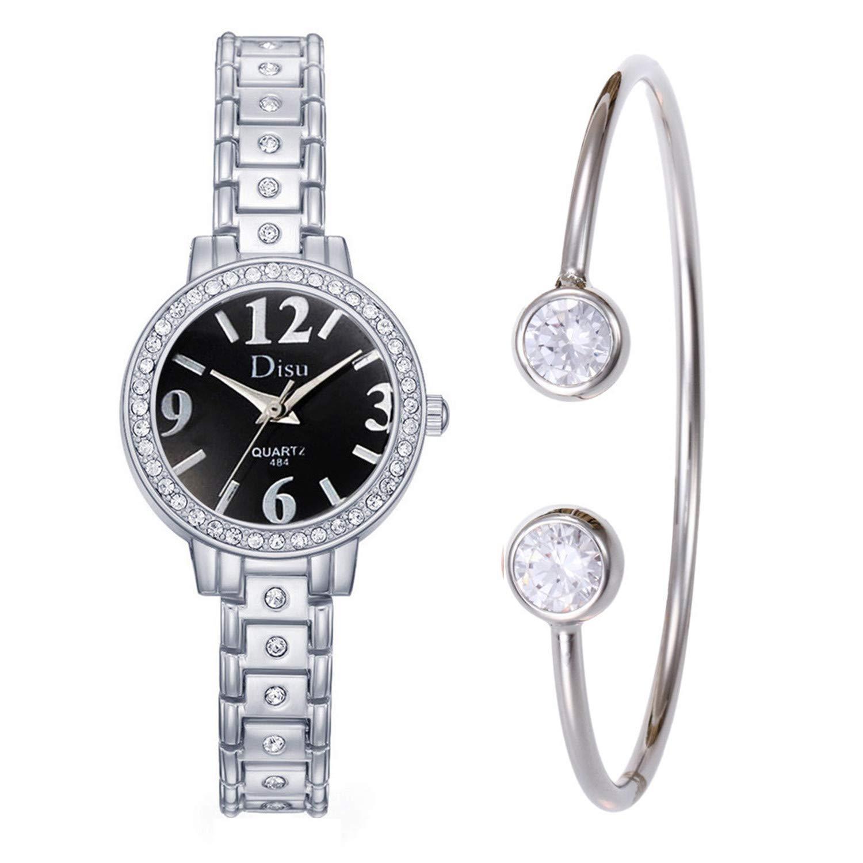 Amazon.com : sportsmanship Rhinestone Women Bracelet Watch Fashion Female Alloy Quartz Wrist Watch Rose Gold Ladies Watch Relojes para Mujer(D, ...