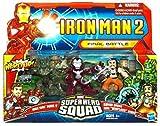 Iron Man 2 Super Hero Squad Mini Figure 3Pack Final Battle Iron Man Mark V, Whiplash & Armor Drone