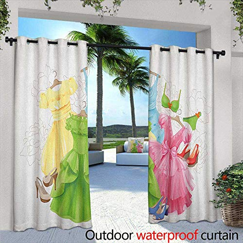 Heels and Dresses Outdoor Curtains Princess Outfits Bikini Shoes Wardrobe Party Costumes in Girls Design Curtains for Living Room 84