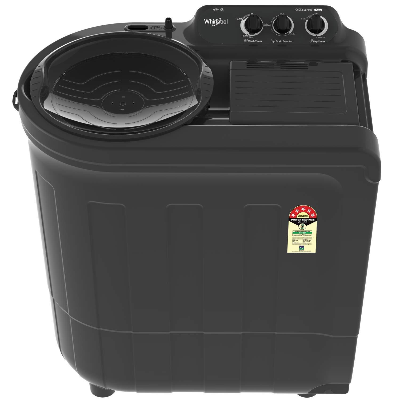 Whirlpool 7.5 Kg 5 Star Semi-Automatic Top Loading Washing Machine – ACE 7.5 SUPREME