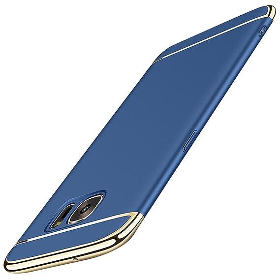 Qissy Samsung Galaxy S6 Edge Carcasa 3 en 1 Bumper Carcasa Funda para Samsung Galaxy S6 Casco Dura rígida PC for Samsung Galaxy S6 Edge