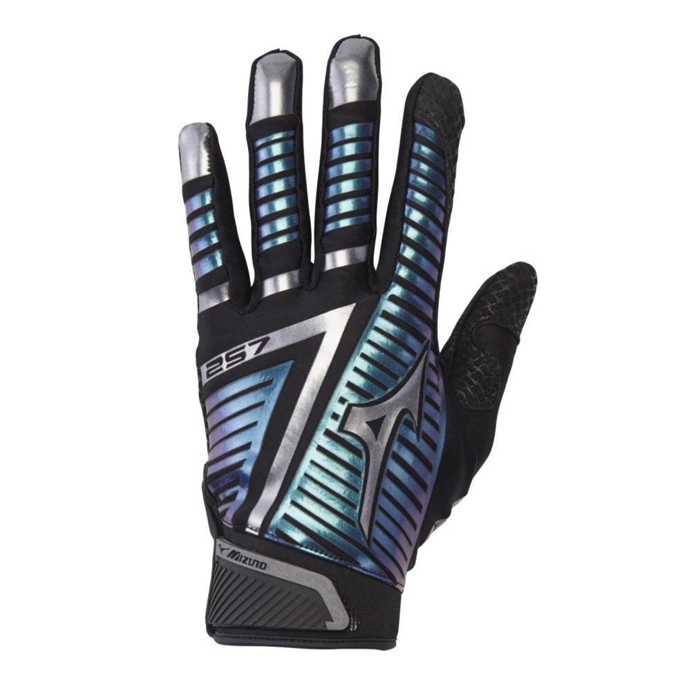 Mizuno F-257 Women's Softball Batting Glove, Black-Iridescent, Large