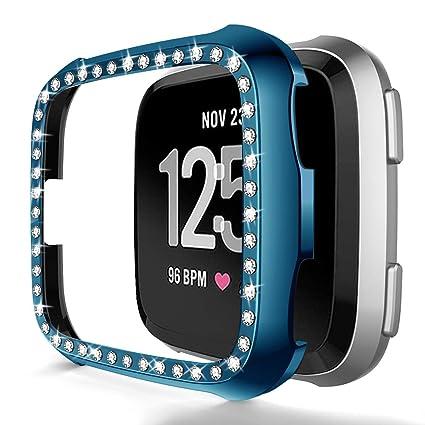Amazon.com: Compatible con Fitbit Versa, carcasa de TPU ...