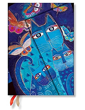 Blue Cats And Butterflies Midi- Paperblanks 2017 Weekly Planner (5 x 7 Horizontal)