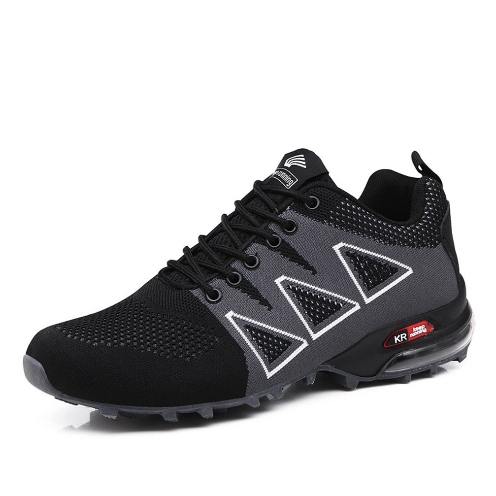 UTENAG Men's Running Shoes Sports Trail Trekking Athletic Outdoor Hiking Sneakers Casual with Air Cushion 10 D(M) US|Black