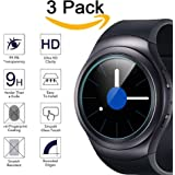 Kimilar Waterproof Samsung Gear S2 Screen Protector, 3-Packs Tempered Glass [9H Hardness] Screen Protector for Samsung Gear S2 / Gear S2 Classic, Ultra High Definition Invisible and Anti-Bubble Shield