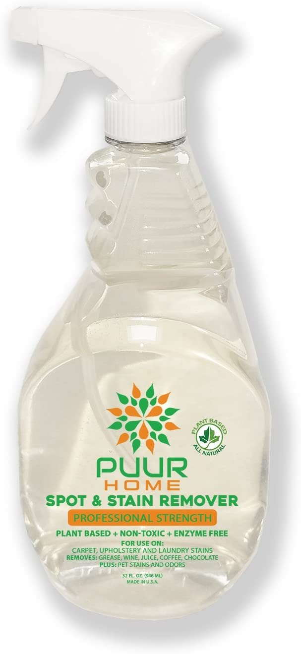 PUUR Home Natural Laundry Stain Remover XL 32 oz Spray - Removes Spots and Odors, Safe on All Fabrics - Biodegradable - Non Toxic - Child and Pet Safe