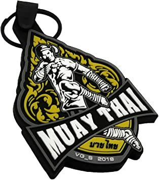 MUAY THAI Boxing Glove Small Leather KEYRING KEYCHAIN Collectible Gift Quality