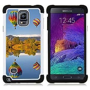/Skull Market/ - Balloon ball Colourful Air For Samsung Galaxy Note 4 SM-N910 N910 - 3in1 h????brido prueba de choques de impacto resistente goma Combo pesada cubierta de la caja protec -