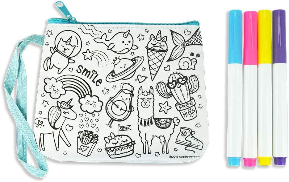 6-Pack DIY Color-Your-Own Purse Craft Kit Doodle