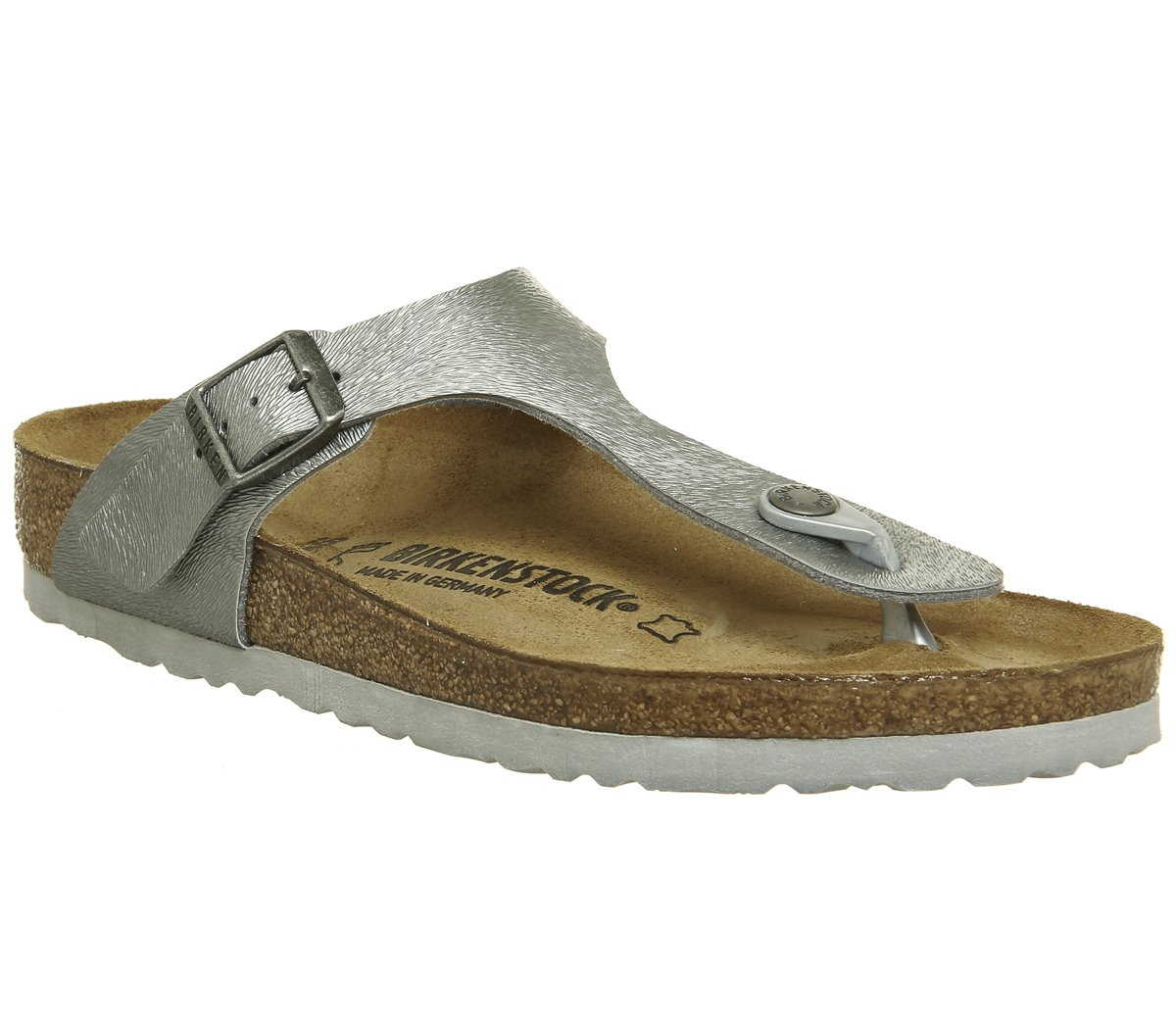 BIRKENSTOCK Damen Gizeh Zehentrenner  40 EU|Grau (Animal Fascination Gray Animal Fascination Gray)